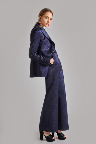 Natalia - Navy Jacquard Evening Suit