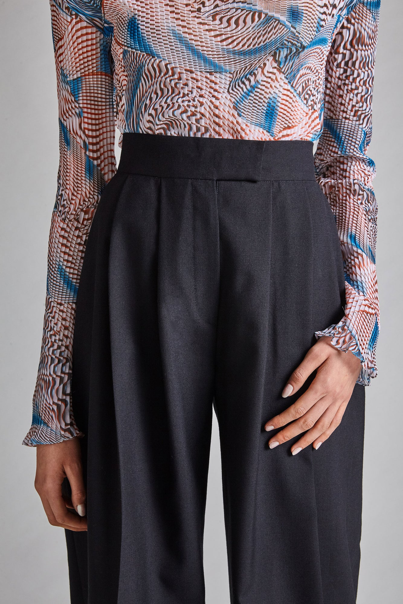 Saskia - Wool Wide-Leg Trousers