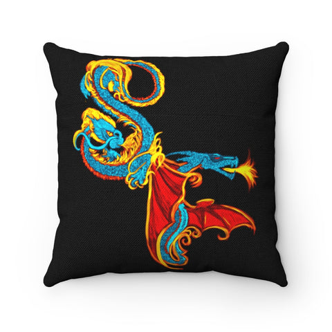 Serpentine Fire Polyester Square Pillow