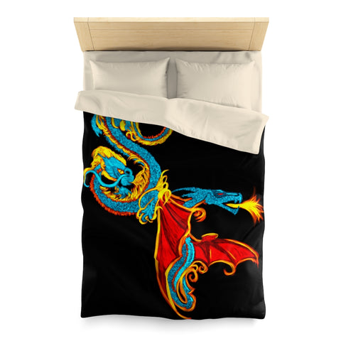 Serpentine Fire Microfiber Duvet Cover