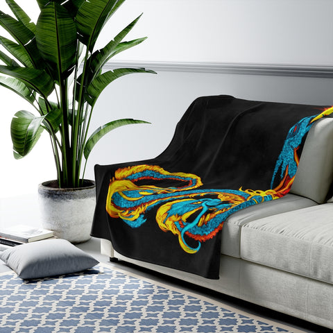 Serpentine Fire Velveteen Plush Blanket