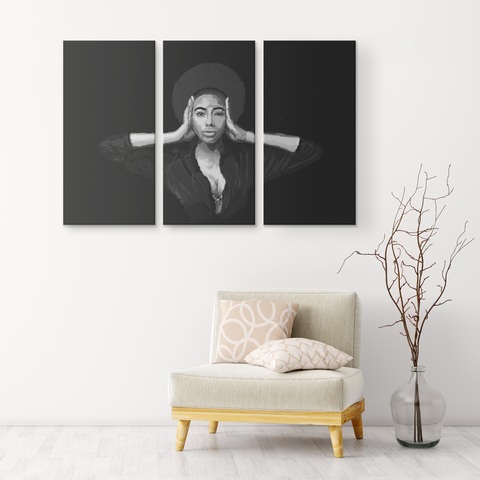 POWER 3 Piece Wall Canvas Art