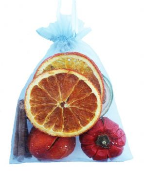 Fruit Organza Bag -  silver