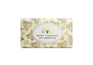 The English Soap Company Merry Christmas Luxury Gift Wrapped Vegetable Soap Bar