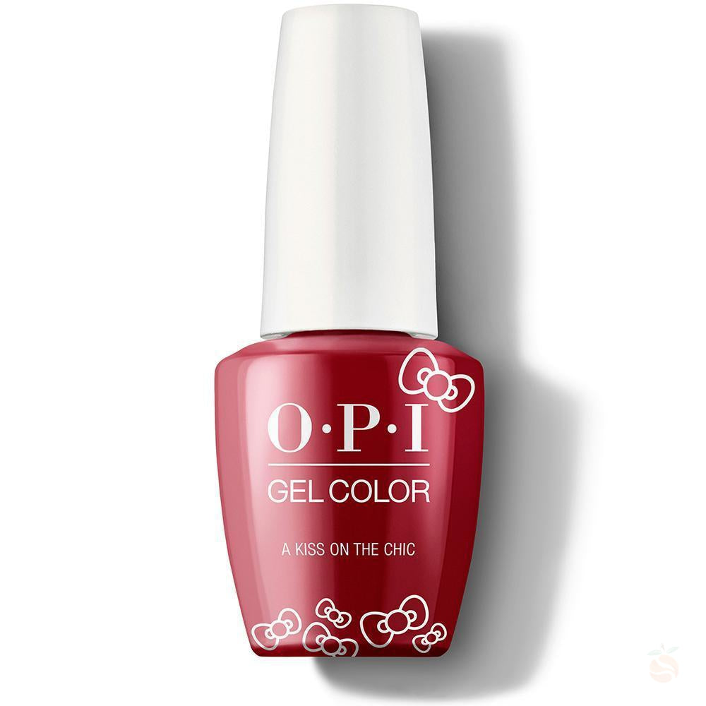 OPI GelColor - A Kiss On The Chic-Orange Nail Supply