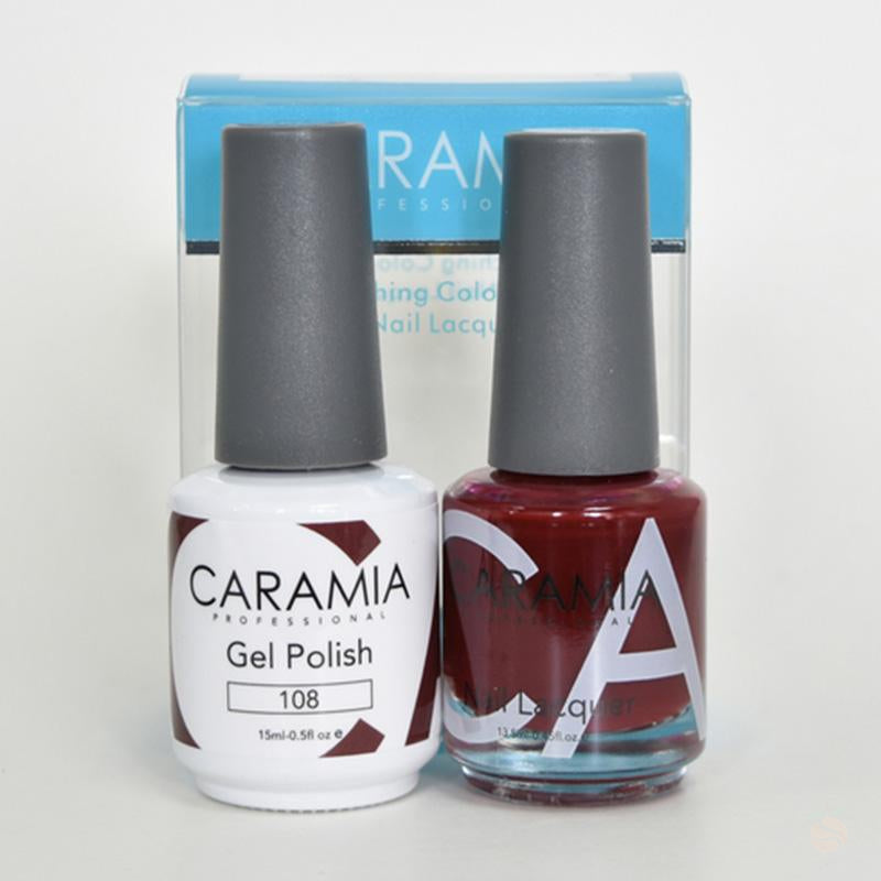 Caramia Duo Gel & Polish Set #108-Orange Nail Supply