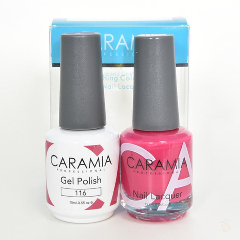 Caramia Duo Gel & Polish Set #116-Orange Nail Supply