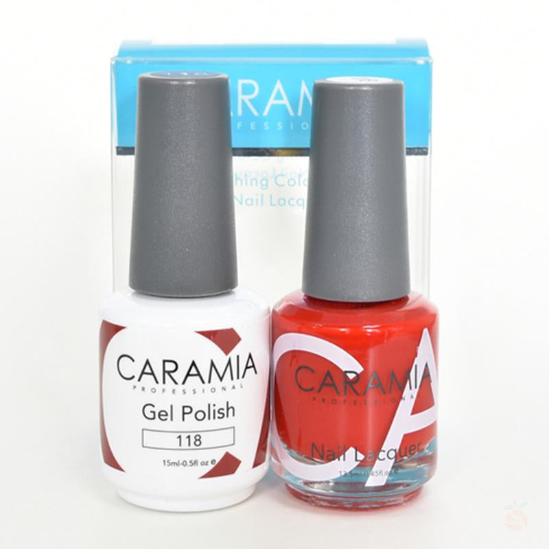 Caramia Duo Gel & Polish Set #118-Orange Nail Supply