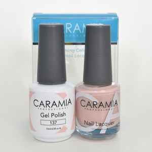 Caramia Duo Gel & Polish Set #137-Orange Nail Supply