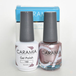 Caramia Duo Gel & Polish Set #140-Orange Nail Supply
