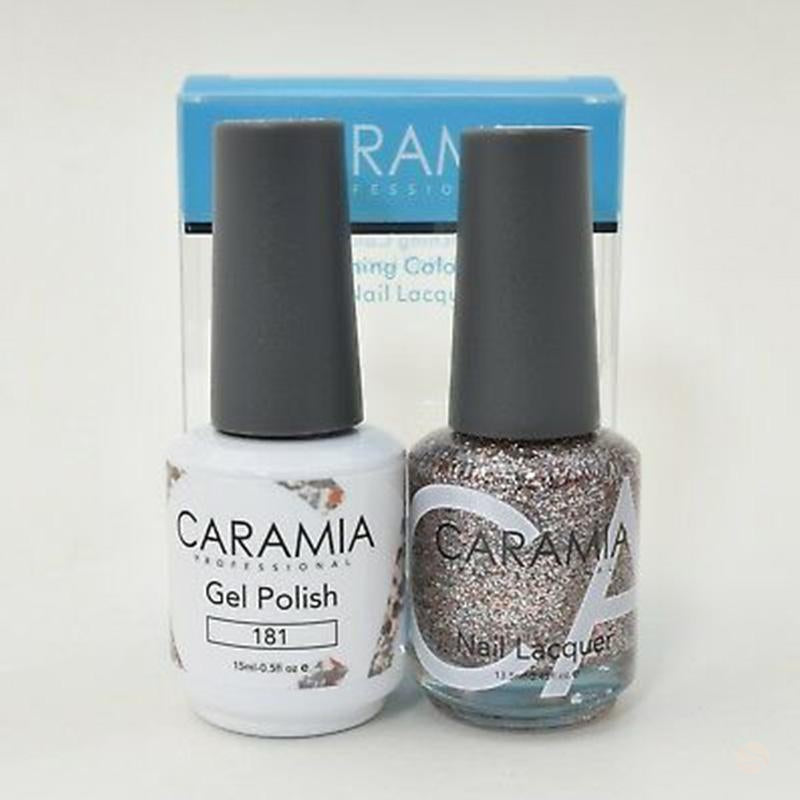 Caramia Duo Gel & Polish Set #181-Orange Nail Supply
