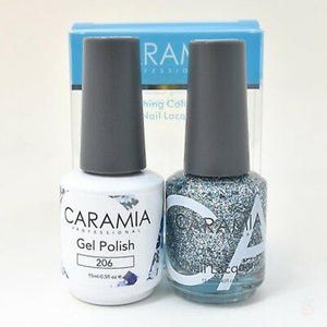 Caramia Duo Gel & Polish Set #206-Orange Nail Supply
