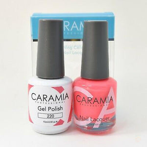 Caramia Duo Gel & Polish Set #220-Orange Nail Supply