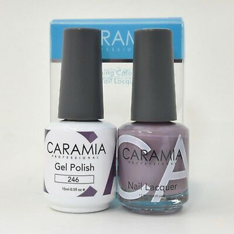 Caramia Duo Gel & Polish Set #246-Orange Nail Supply