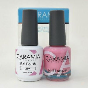 Caramia Duo Gel & Polish Set #259-Orange Nail Supply