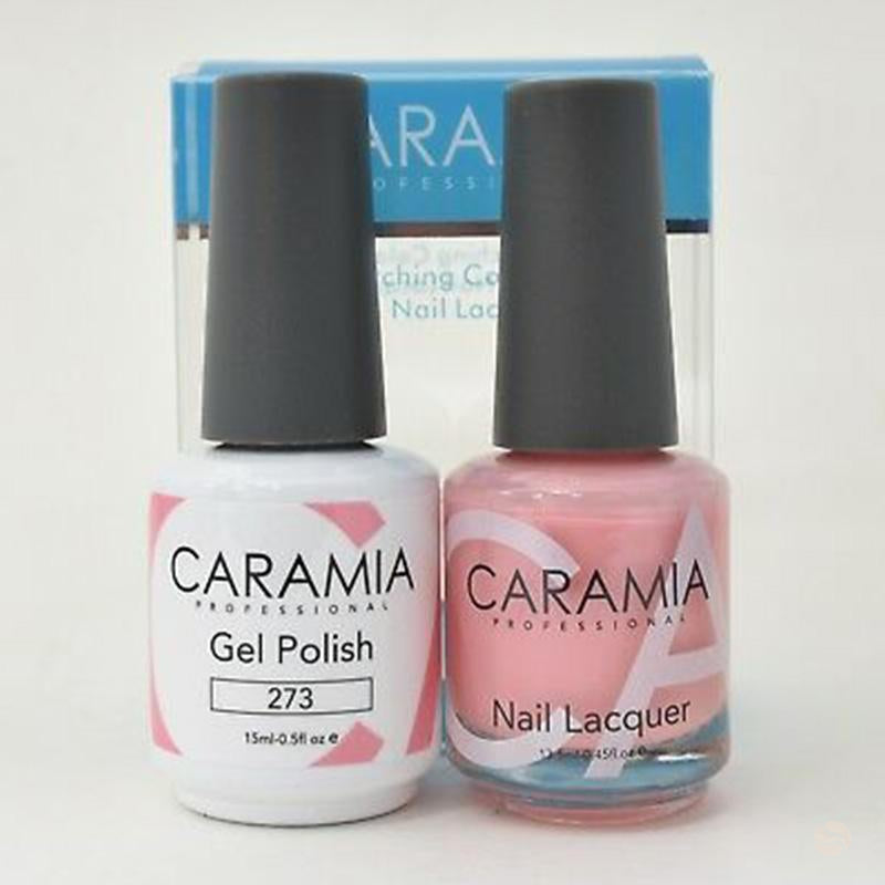Caramia Duo Gel & Polish Set #273-Orange Nail Supply
