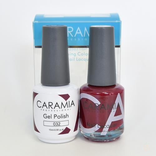 Caramia Duo Gel & Polish Set #32-Orange Nail Supply