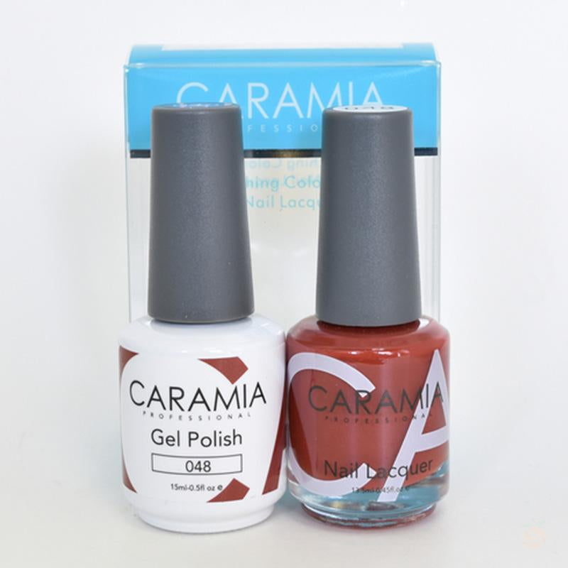 Caramia Duo Gel & Polish Set #48-Orange Nail Supply