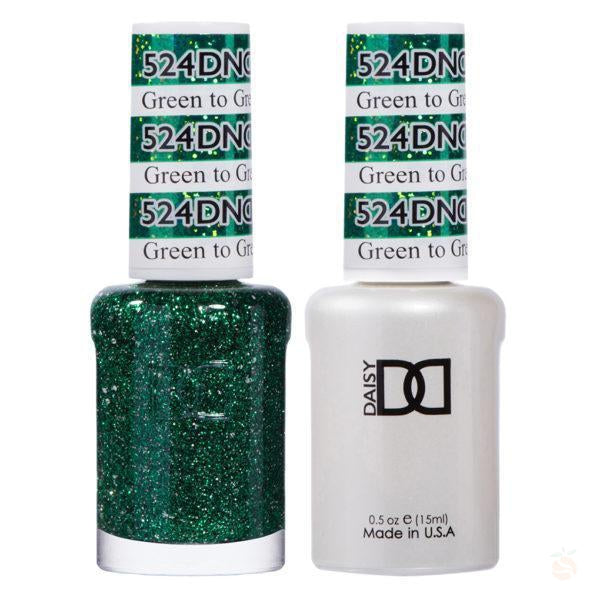 DND - Gel & Lacquer - Green to Green - #524-Orange Nail Supply