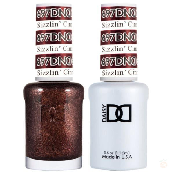 DND - Gel & Lacquer - Sizzlin' Cinnamon - #697-Orange Nail Supply