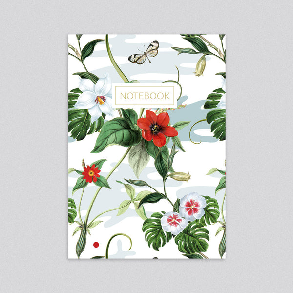 Floral Flutter Notebook