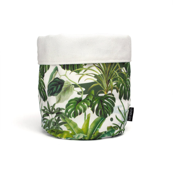 Leafy Monstera Fabric Basket