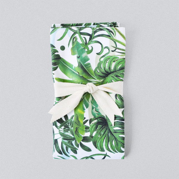 Leafy Monstera Tea Towel