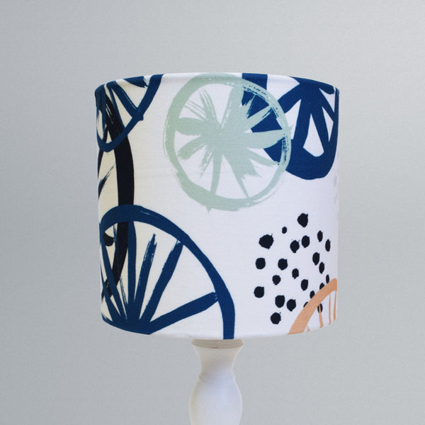 Clustered Blue Lampshade 20cm