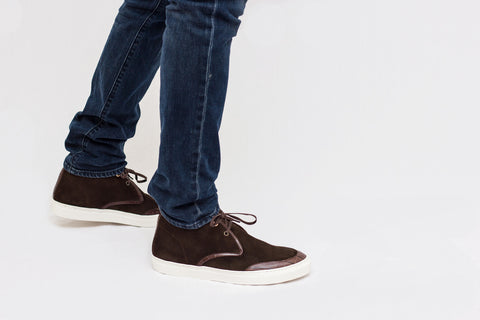 chocolate earl chukka and denim