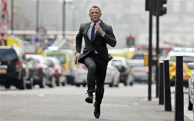james bond running