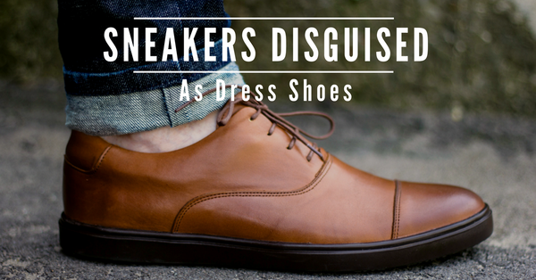noblesole sneakers disguised as dress shoes
