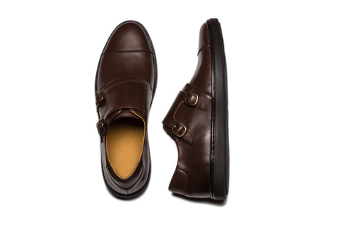 monk strap sneaker brown