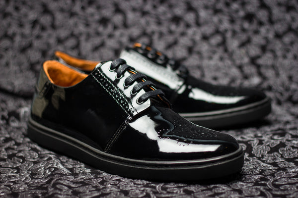The Windsor Sneaker | Black Patent