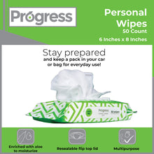 Load image into Gallery viewer, Progress Personal Cleansing Wipes, 50 CT