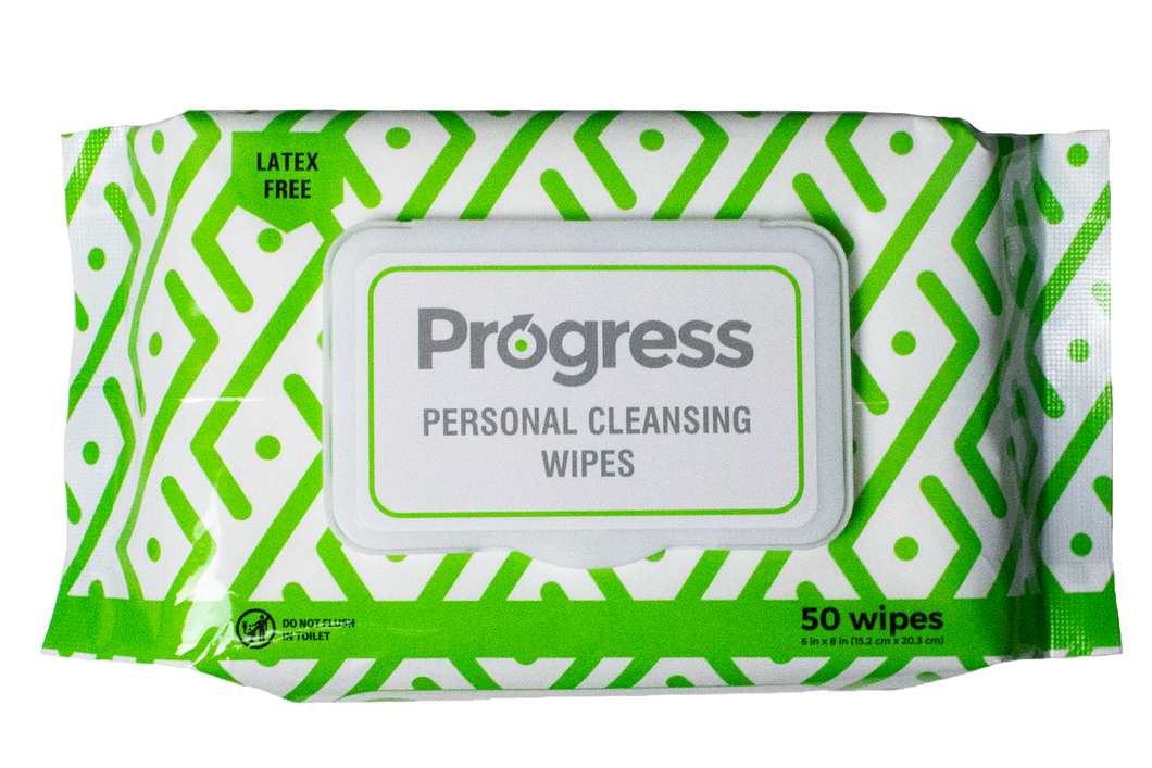 Progress Personal Cleansing Wipes, 50 CT