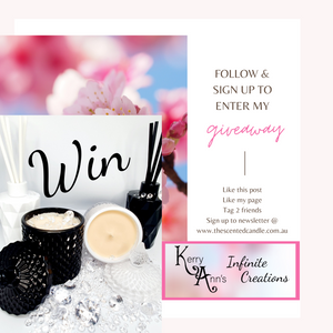 Follow me on Social & Sign up for my Newsletter for a Chance to Win a Scented Candle