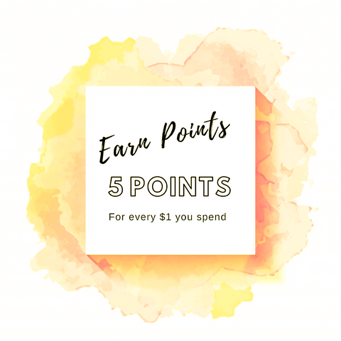 Earn points for every dollar spent on candles
