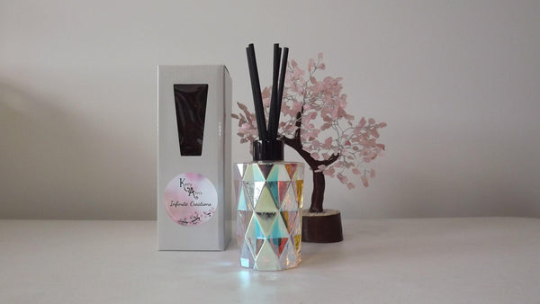 Iridescent Rainbow Diamond Cut Scented Reed Diffuser 170mls (Avail in 30+fragrances)