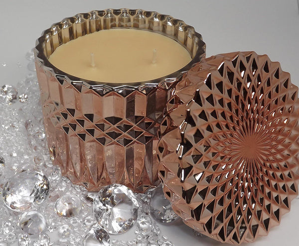 Rose Gold Collection - Rose Gold Deluxe Candle 400gms - Kerry Ann's Infinite Creations @ The Scented Candle