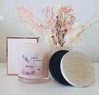Extra Large Pink Pink Sugar Coconut Soy Wax Scented Candle