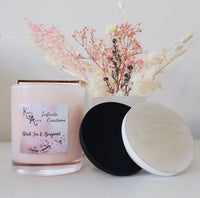 Extra Large Pink Black Tea & Bergamot Coconut Soy Wax Scented Candle