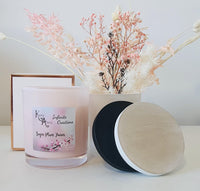 Extra Large Pink Sugar Plum Fairies Coconut Soy Wax Scented Candle