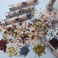 Hand Crafted Essential Oil Bath Salts Test Tube Vials (3 pack) - Kerry Ann's Infinite Creations @ The Scented Candle