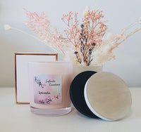 Extra Large Pink Watermelon Coconut Soy Wax Scented Candle