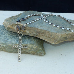 Smokey Topaz and Coptic Cross