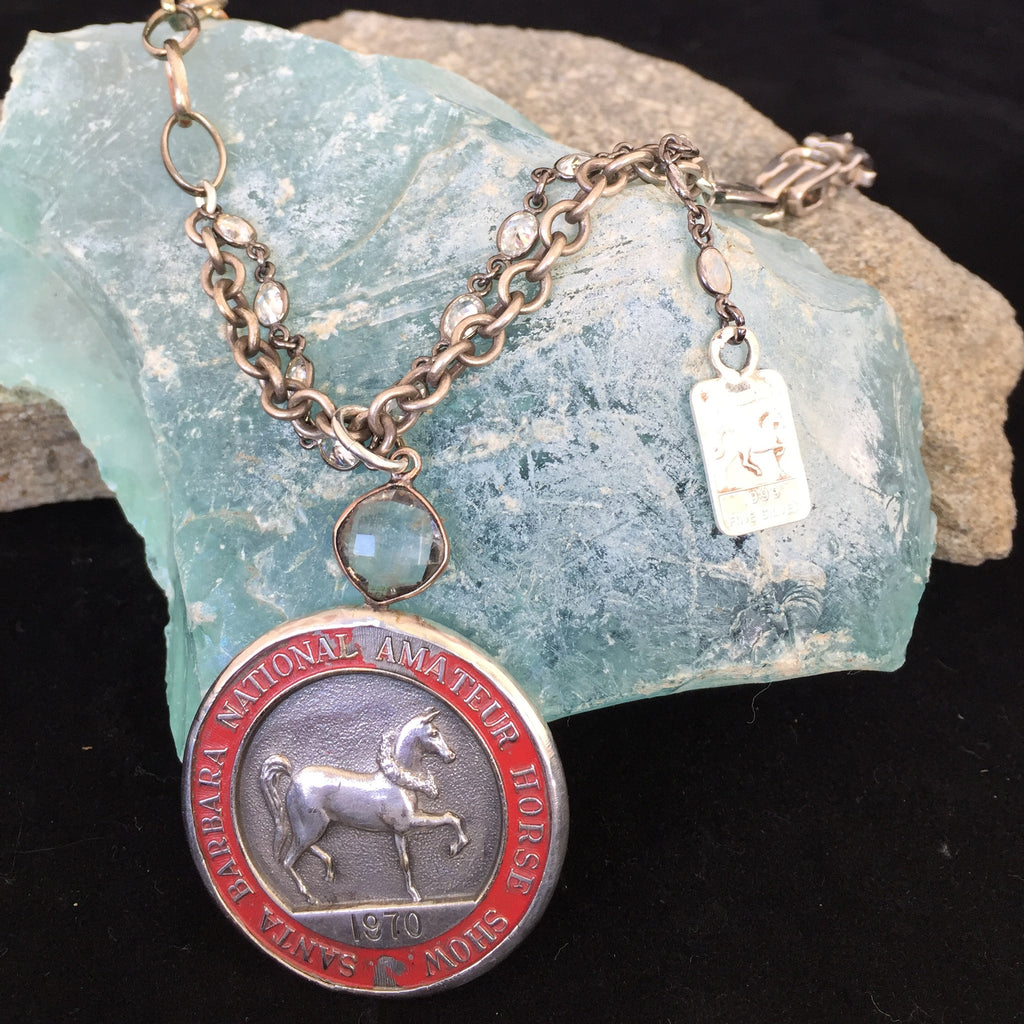 HORSE SHOW MEDAL NECKLACE