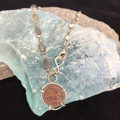 Horse Penny Necklace