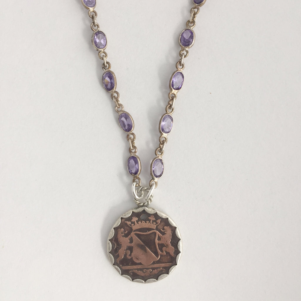 Tanzanite and Copper coin Necklace