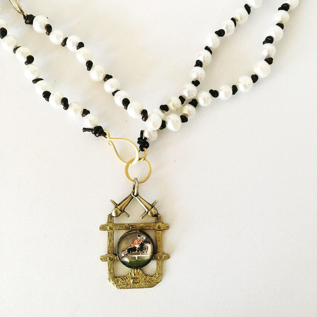 Vintage Intaglio Necklace