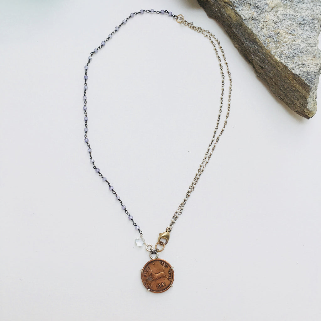 1951 HORSE COIN NECKLACE
